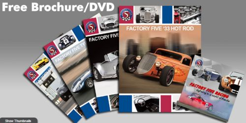 Factory Five Free Brochure & DVD - US