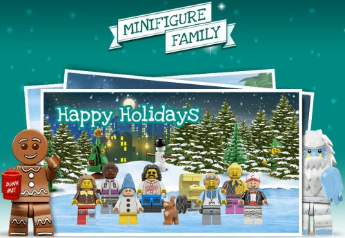 LEGO Make your Free Lego Minifigure Family postcard to Share