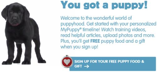 Purina MyPuppy.ca Free Welcome Kit with Puppy Food and Puppy ID Tag - Canada