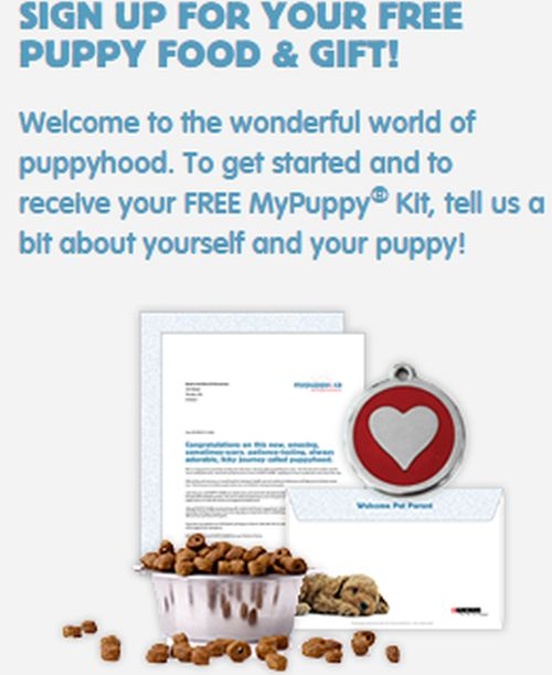 Purina MyPuppy.ca Free Puppy Food and Gift - Canada