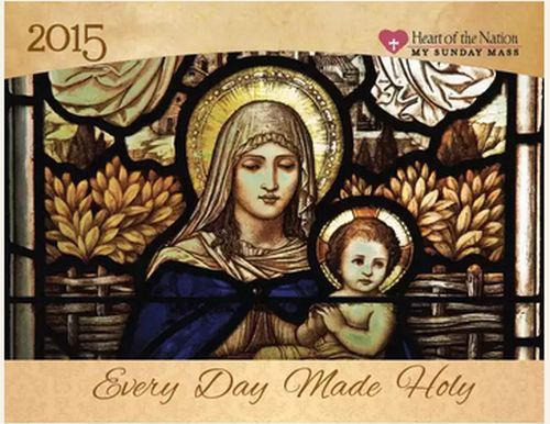 Heart of the Nation Free 2015 Catholic Art Calendar - US