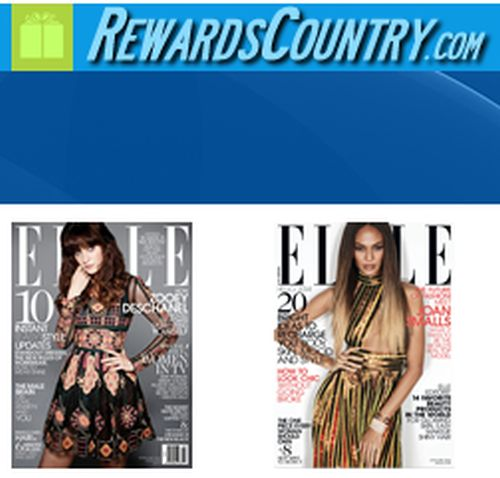 RewardsCountry.com Free 2-Year Subscription to Elle Magazine - US