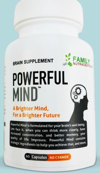 Family Nutraceuticals Free Powerful Mind Brain Supplement