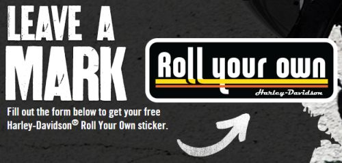 Harley Davidson Free Roll Your Own Sticker - US