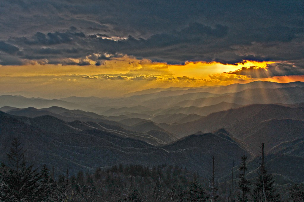 IMAGE: Sunset at Waterrock Knob © Robert Ludlow, North Carolina photographer (Used with permission. All rights reserved.)
