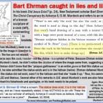 Did Bart Ehrman lie and libel?