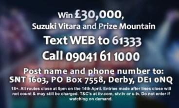 Saturday Night Takeaway Competition Suzuki and £30000 Cash