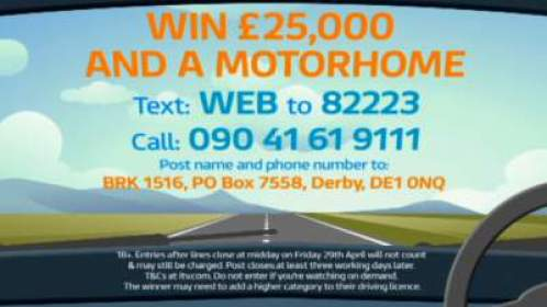 Good Morning Britain Competition Motorhome