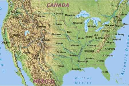 Maps Usa Map With Mountains Map Usa Rivers And Mountains Map Maps - Mountain ranges of the united states
