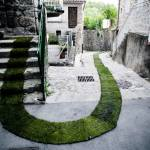 Gaelle Villedary's Green Carpet Rolls Through Provincial Town in Southern France