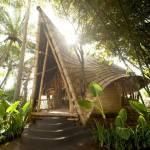 Bamboo houses in Bali