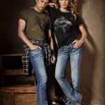 "Edita Vilkeviciute and Sean O'Pry for Advertising Campaign ""Lucky Brand"""