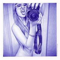 """Stranger Than Fiction"" – Hyperrealistic Ballpoint Pen Drawings by Juan Francisco Casas"