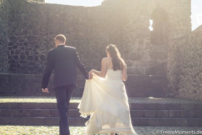 Brautpaar Gegenlicht