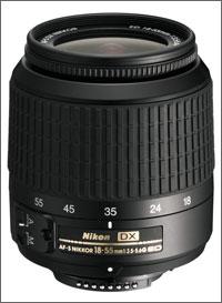 Een Nikon 18-55 objectief