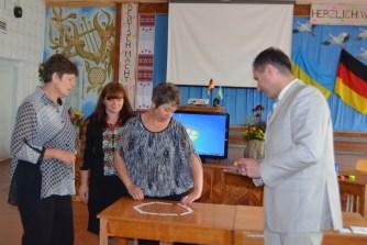 Larissa, Oksana und Vira - von der gastgebenden Schule