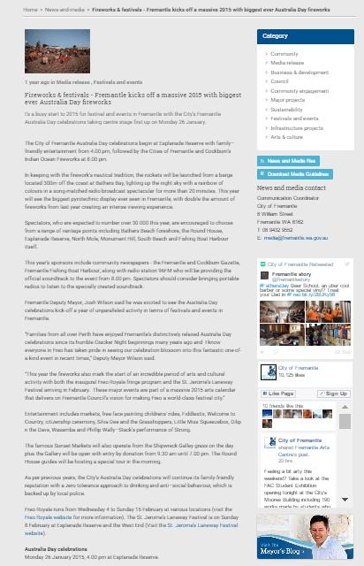 2015 australia day press release 2015