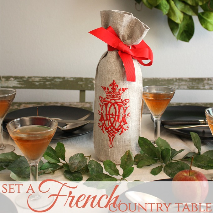 Ease into FALL   Set a French Country Tablesetting