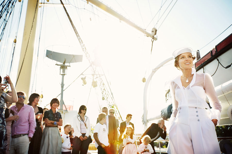 Wozaczinski Dagmara+Maciek 24 Married on a Boat in a Beautiful Sailor Outfit