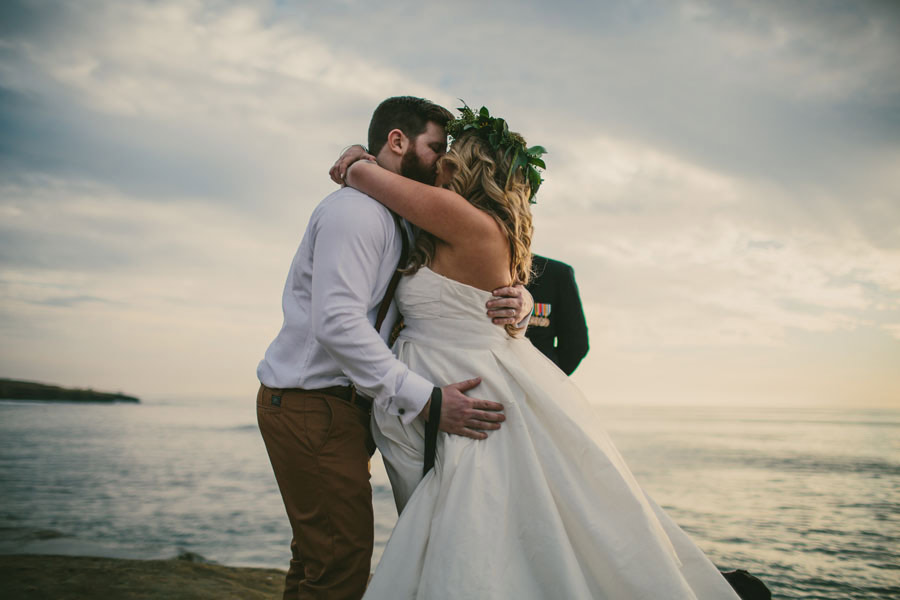 sea elopement pregnant bride 27 An Elopement in San Diego with a Nearly 9 Months Pregnant Bride