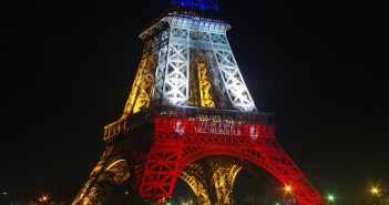 Eiffel Tower lit up in Blue White Red © French Moments