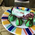 No Bake Mint Chocolate Chip Cake Balls