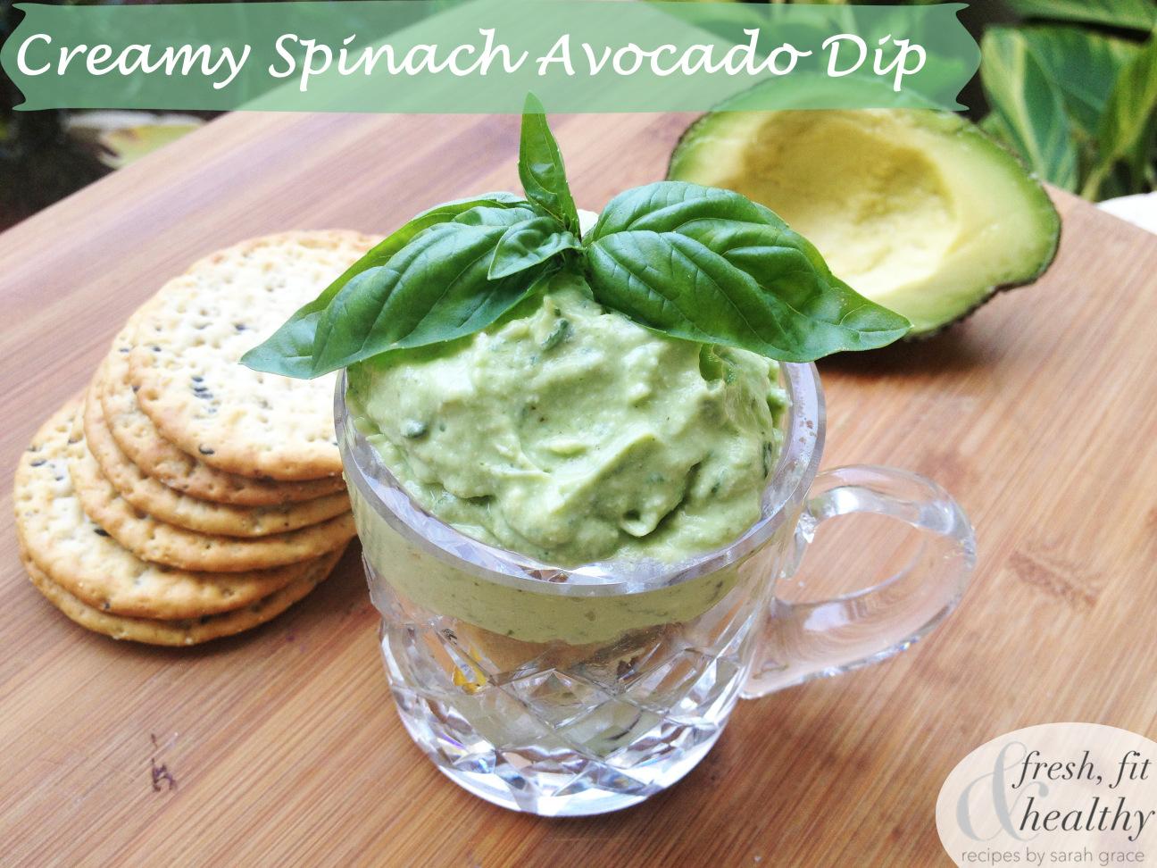Cream Dill Veggie Dip Creamy Avocado Spinach Dip Fresh and Healthy ...