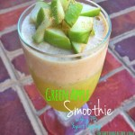 Green Apple Smoothie with Peanut Butter Topping
