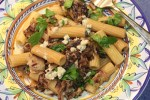 Rigatoni with Radicchio, Gorgonzola and Walnuts