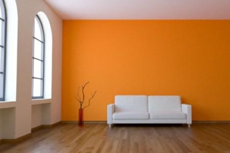 Wand Farbe Sten Idee Wohnzimmer Orange Gelb Weic39f