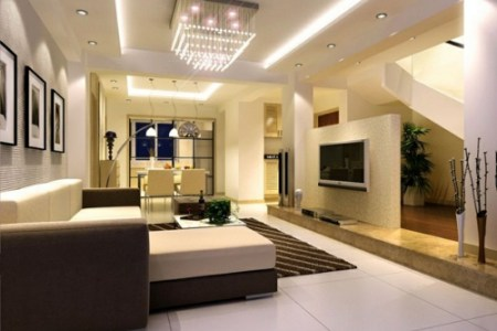 Emejing Deckengestaltung Wohnzimmer Modern Ideas