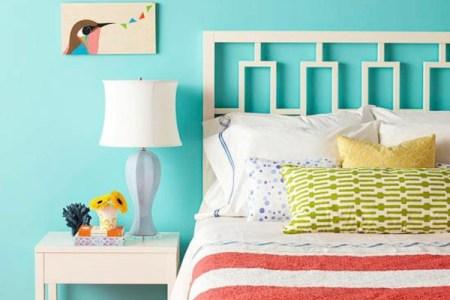 farbgestaltung schlafzimmer farbideen t%c3%bcrkis blau wandfarbe wanddeko