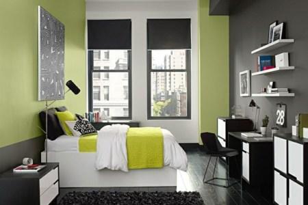 farbgestaltung schlafzimmer farbideen wandfarbe olivgr%c3%bcn bettw%c3%a4sche gr%c3%bcngelb