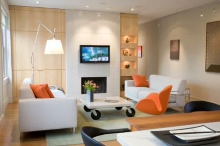 Beautiful Wohnzimmer Gestalten Orange Photos - House Design Ideas