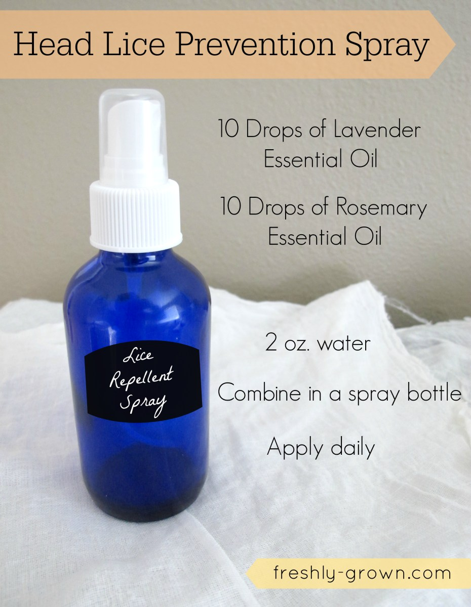 DIY Lice Prevention Spray