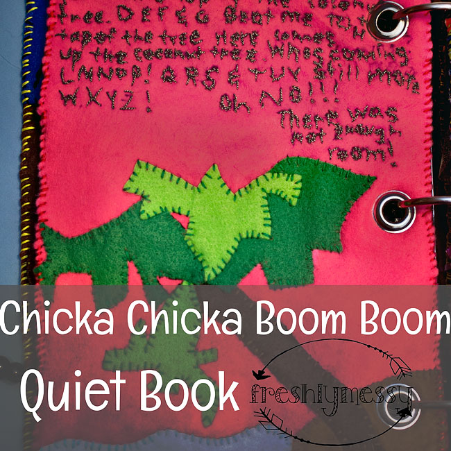 Learning the Letter C with a Chicka Chicka Boom Boom Quiet Book Page