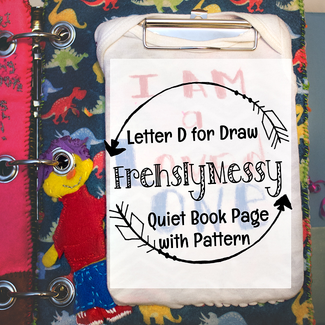 Learning the Letter D Drawing with Sid the Science Kid Quiet Book Page