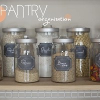 Kitchen Pantry Organization on a Dime + Free Printable Labels