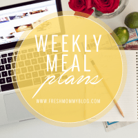 Weekly Meal Planning // Week 04