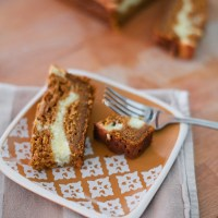 Easy Pumpkin Bread with Cream Cheese Ribbon