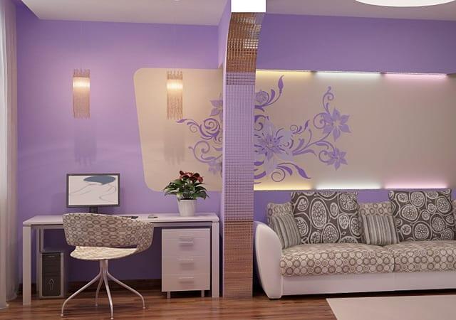38 Home Design Wande Streichen Wand Farbe Idee Wohnzimmer Lila Tne
