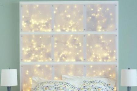 coole diy deko ideen schlafzimmer mit diy kopfteil als wanddekoration e1438856458318
