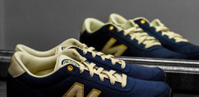 New Balance 501 – Navy Blue/White/Yellow