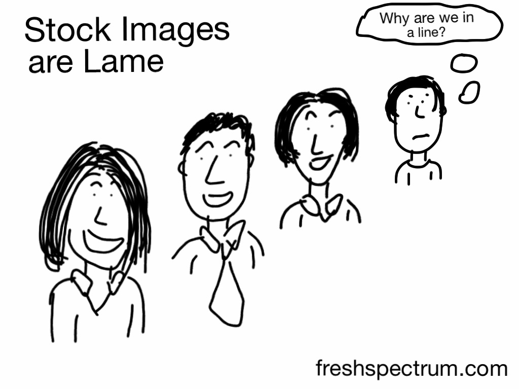 Stock images are weird and lame