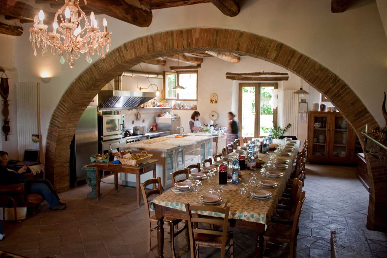 cooking school in tuscany all about food friends and sharing kitchen table cooking school Cooking school in Tuscany all about food friends and sharing Fresh Trails Adventures