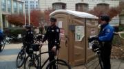 Sacramento police arrest porta-potty
