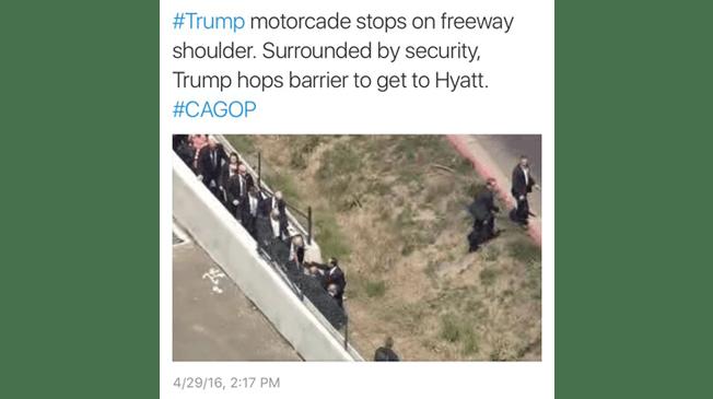 trumpmotorcade