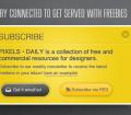 Yellow Subscribe Box