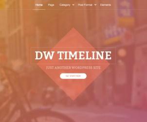 DW Timeline - Free Timeline WordPress Theme