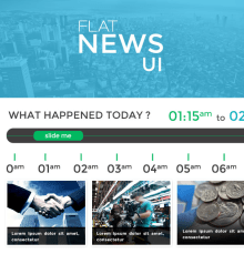 Free News Flat Concept UI Kit